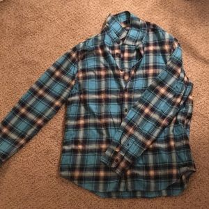 American Eagle plaid button down.